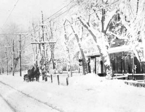 Snow on Main Street Trappe
